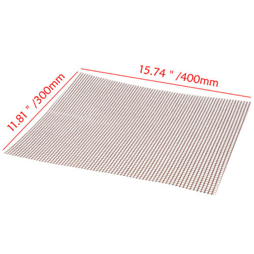 1Pc BBQ Grill Mesh Non-Stick Mat Reusable Teflon Sheet Resistant Barbecue Meat