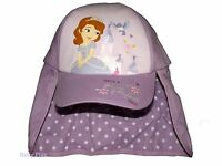 BNWT girls princess sofia the first baseball cap with neck guard 3-6 yrs