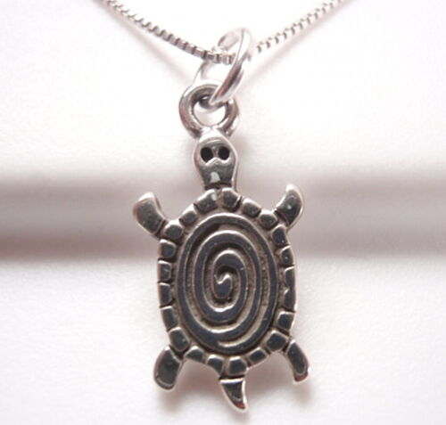Sud-Ouest Style Artistique spirale Tortue Collier Argent Sterling 925 Corona Sun