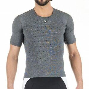 Giordana-Cycling-Short-Sleeve-Ceramic-Base-Layer-Mens-Grey-BRAND-NEW