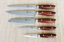 KATSURA Japanese VG-10 3 Layer Forged Steel 8in Chef knife Set vs Ran Shun, 5pcs