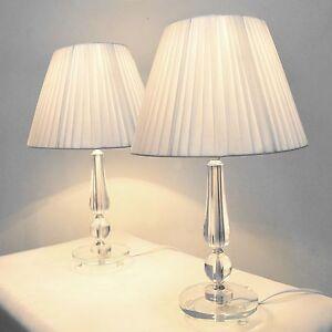 Pair Of New Bedside Table Designer Modern Lamps Ebay