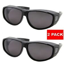 2c013ac13d 2 PACK POLARIZED Cover Put Fit over Sunglasses wear Rx glass Fit Driving  UV400