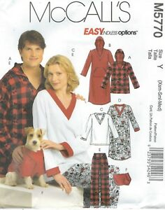 Image is loading McCall-039-s-5770-Unisex-Tops-Nightshirts-Pants- 93a7effc5
