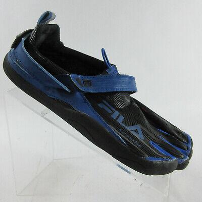 Fila Skele Toes EZ Slide Barefoot Minimalist Running Shoe Mens Sz 10 Black Blue | eBay