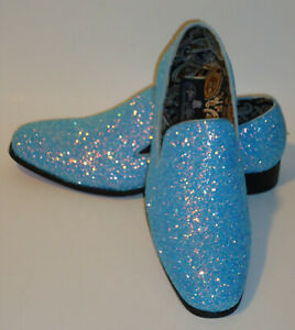 05e9fa57d461 AM 6683 Mens Formal Glitter Dress Loafers Shoes Sparkly Metallic ...
