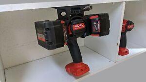 Milwaukee-M18-tool-amp-Battery-holder-mount-bracket-storage-18v-Drill-Impact-V2