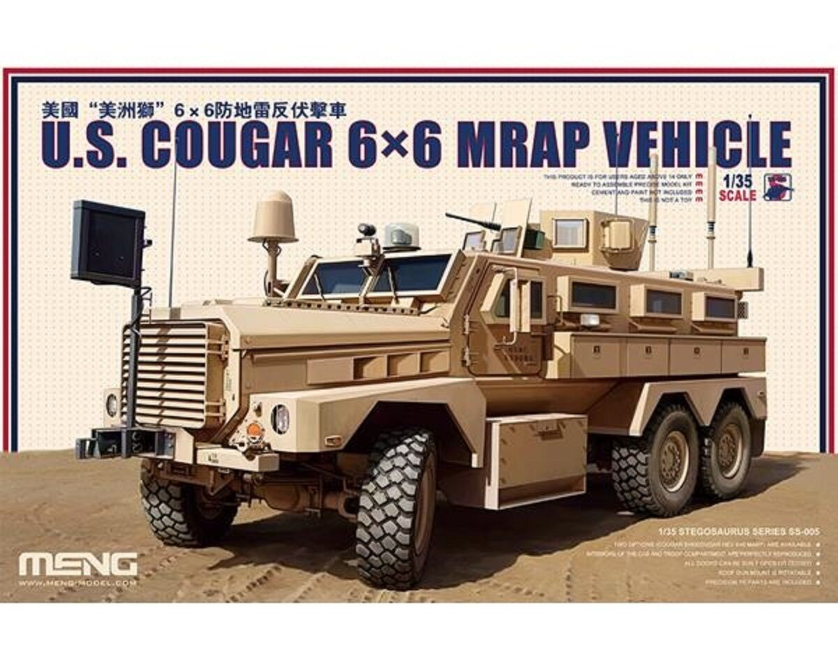 ultimi stili MENG US COUGAR 6X6 6X6 6X6 MRAP VEHICLE 1 35 COD.SS005  basta comprarlo