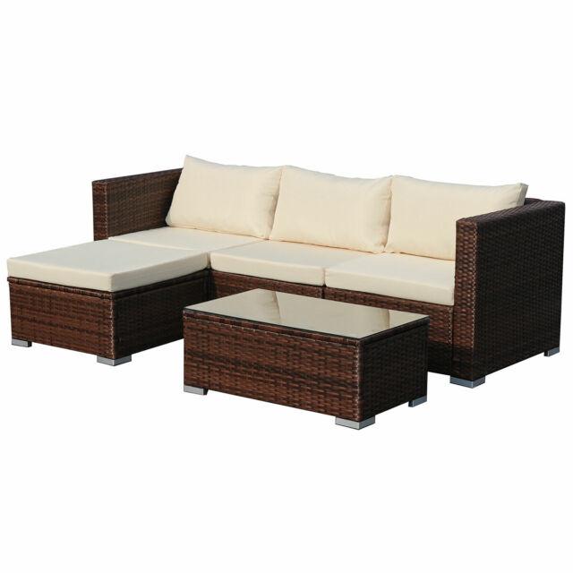 Beliebt Poly-rattan Lounge Queens Sofa Gartenset Garnitur Polyrattan OW86