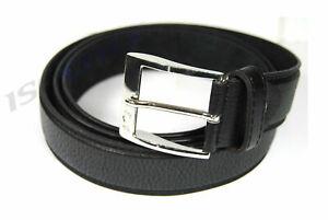 Herren-Guertel-in-schwarz-super-Schnalle-Jeansguertel-Belt-mit-Naht-3-8-cm-Breit