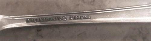 International Silver Brocade Pattern Sterling Place Setting 4 Pc No Monograms