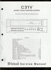 Rare Original Factory McIntosh C 31V Stereo Audio Video Center Service Manual