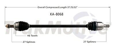 Front Pass Right CV Axle Shaft SurTrack KA-8072 for Kia Sportage 2.0L 2011-2013