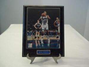 Basketball-nba Forceful Alonzo Mourning 8 X 10 Autographed Photo With Plaque Frame Autographs-original