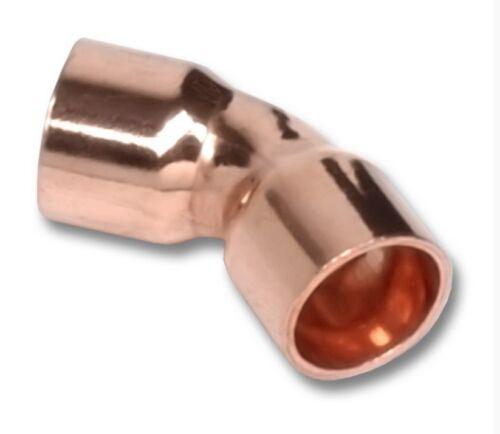 Kupfer-Lötfitting 5041 Bogen 45°  I-I  verschiedene Größen