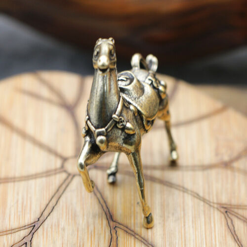 Brass Horse Figurines Small Horse Statue House Ornament Animal Figurines Toys