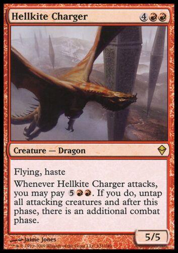 LP Zendikar MTG Magic Cards Red Rare 1X Hellkite Charger