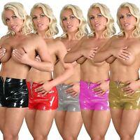 New Women's Naughty Adult High Quality PVC Sexy Zip Short Hot Pant M/L/XL