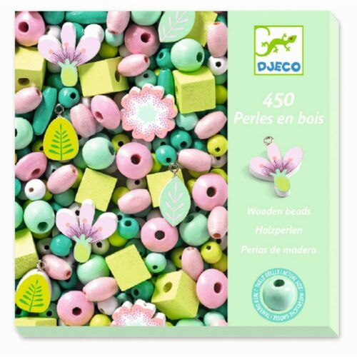 *DJECO*Schmuck*Bastelset*450*Holz*Perlen*Blätter&Blüten*Pastellfarben* Basteln & Kreativität