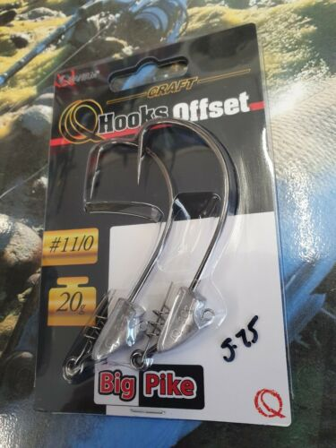 Weighted Offset Hooks  20g Quantum Big Pike