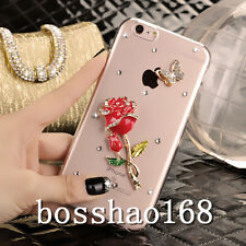 New Bling Crystal Gem Diamond Thin Clear Soft TPU Back Shell Case Cover For HTC