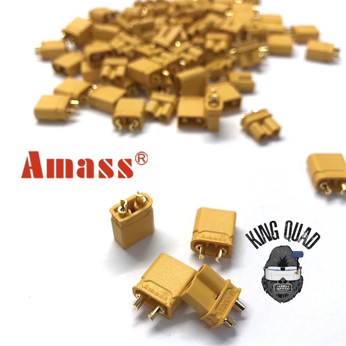 Amass Yellow XT30U Male & Female Plug Connectors