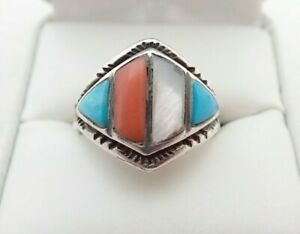 Vintage Sterling Mother of Pearl Ring Size 9.5