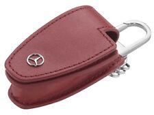 origi Mercedes Benz Schlüssel Anhaenger Anhänger Etui Hülle Case Leder rot red