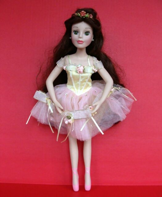 """Belle Disney Classic Porcelain Princess Doll 17"""" Brass Key Beauty and the Beast"""