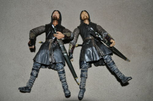 """LOTR Lord of the Rings HELM/'S DEEP Aragorn Barbe sombre variante Battle 5 Armées 6/"""""""