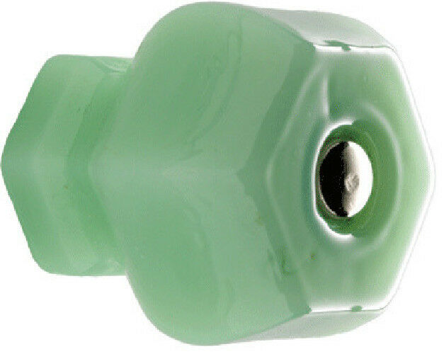 Jadeite Glass Cabinet Knobs, Kitchen Drawer Pulls or Cupboard Handle T43 Set/12