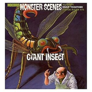 08 discontinued MOEBIUS MONSTER SCENES GIANT INSECT painted store display promo