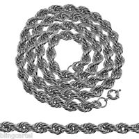 36 Inch Rope Chain 10mm Silver Tone Long Twisted Dookie Hip Hop Men's Necklace