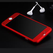Full Cover Hybrid Slim Hard Case + Tempered Glass Film For Apple iPhone 7 6 Plus