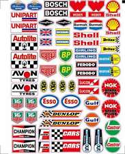 Rc car moto sponsor decals stickers 1/10 1/8 motor oil logo glossy vinyl A4 size