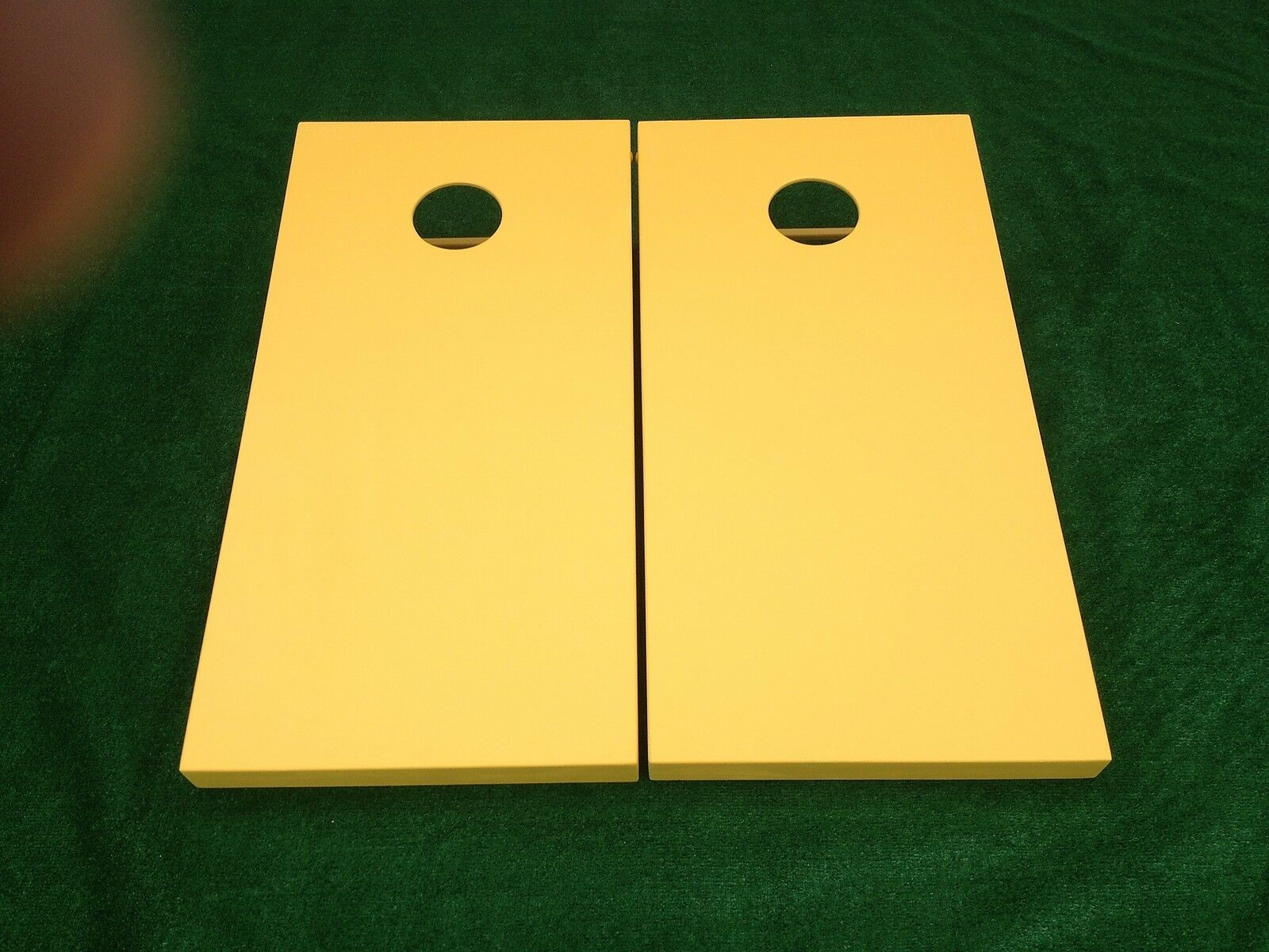 YELLOW Painted CORNHOLE  BOARDS SET Bean Bag Toss + 8 ACA Regulation Bags  wholesale