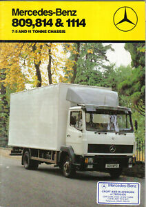 Mercedes-Benz-809-814-1114-7-5-amp-11-Tonne-Rigid-Truck-1986-Original-Brochure