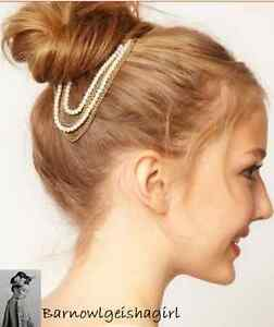 Hair-Pin-Comb-with-Faux-Pearl-Jewellery-Bridal-Decoration-Bride-Head-Band-UK