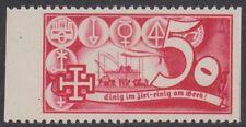 Österreich 1938 Schuschnigg Vignette 50 Groschen Rot einwandfrei postfrisch
