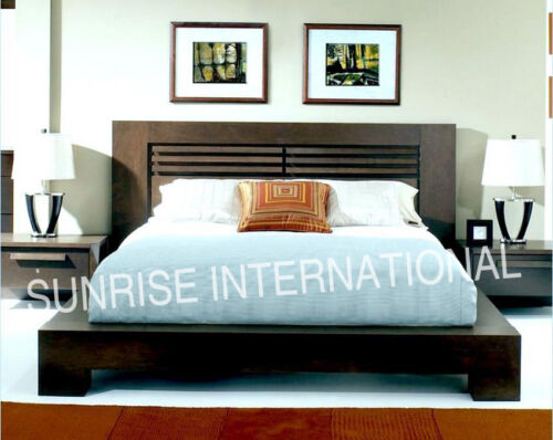 Contemporary Wooden Indian Queen Size Double Bed For Modern Home !
