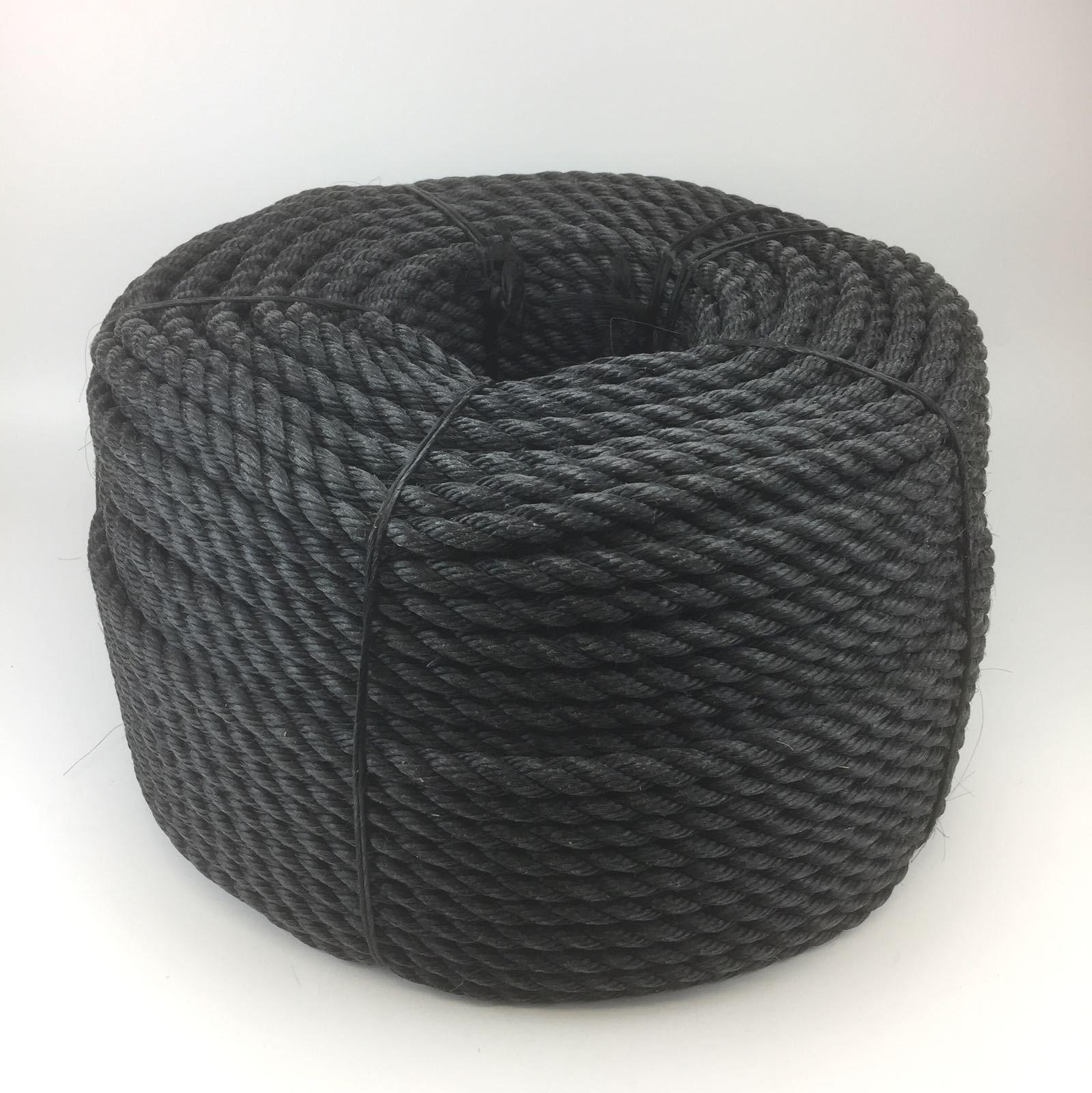 10mm Negro Hilado Hilado Hilado descontinuo Cuerda x 220m BOBINA, barco Ancla amarre andamios af8158