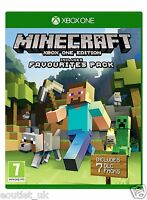 Minecraft Game for Xbox One 1 includes Favorites Pack NEW & SEALED S UK PAL