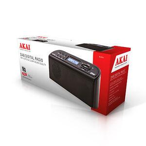 akai a61016 portable dab digital radio ac or battery. Black Bedroom Furniture Sets. Home Design Ideas
