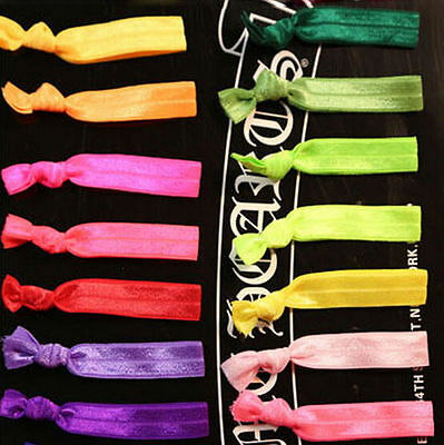 10pcs Lady Hair Tie Band Rope Ring Scrunchie Ponytail Holder Hair Band Bracelet