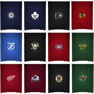 Image Is Loading NHL Hockey Team Logo Bath Shower Curtain Bathroom