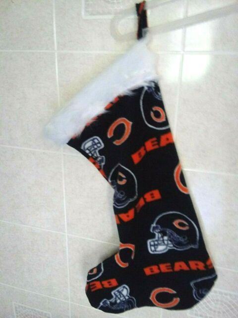 Chicago Bears Christmas Stocking- Handmade- appr. 22 ...