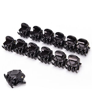 Femmes-12Pcs-Blackplastic-Mini-Epingle-6-Griffes-Pince-A-Cheveux-Clip-Clamp-FE