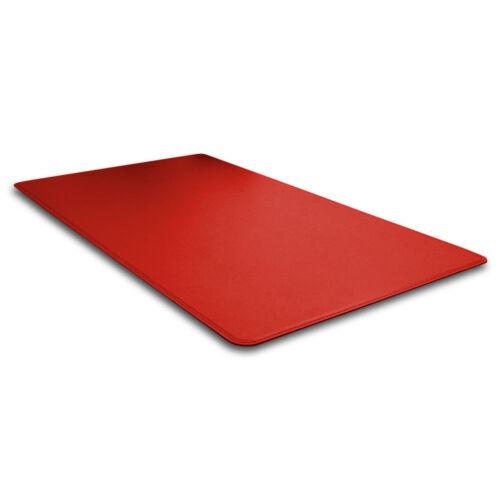 Schreibunterlage Leder Ferrari Rot Abgerundeten Kanten und Gleitschutz cm 80x50
