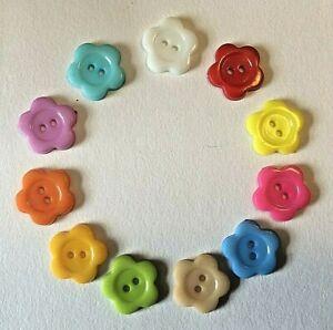 """20 X 1//2/""""//13mm Botones En Varios Colores"""