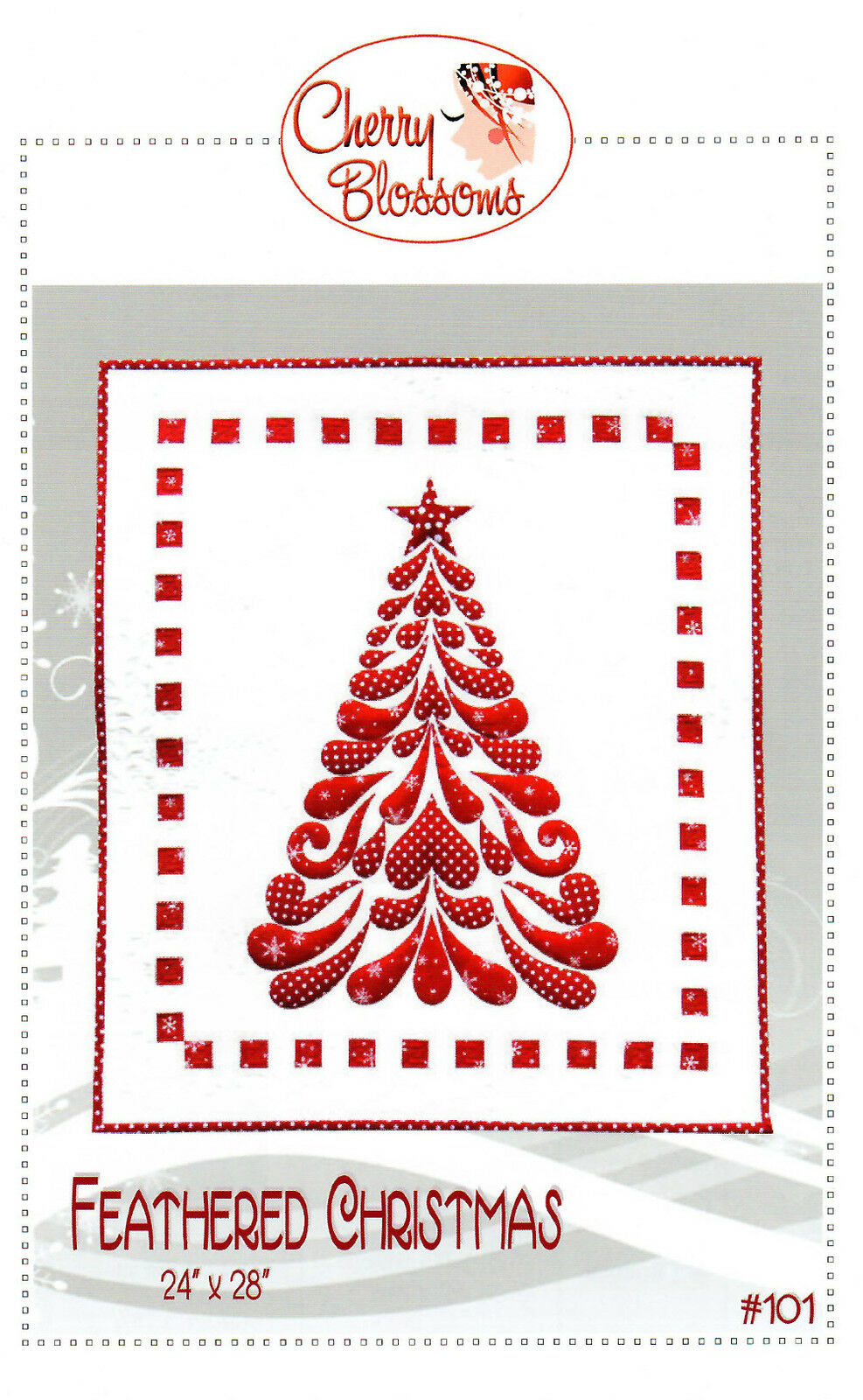 Cherry Blossoms Quilting Studio Feathered Christmas Tree Applique ...